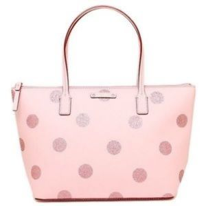 Kate Spade Haven Lane Hani Glitter Polka Dot Tote